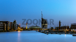 Bremerhaven at blue hour