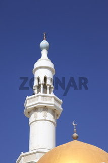 Minarett mit Kuppel einer Moschee,  Sultanat Oman