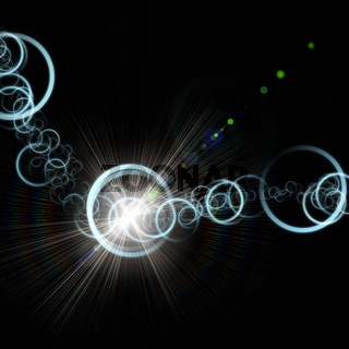 Futuristic technology circle background design with lights