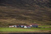 Iceland, farm in the valley of Bárðardalur