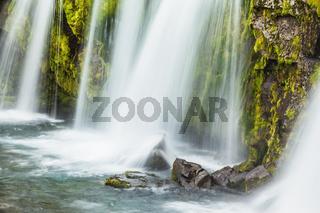 Powerful cascading waterfall