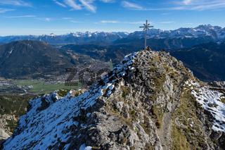 Gipfel Kramer vor GarmischPartenkirchen