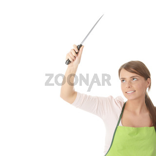 Housewife with knife