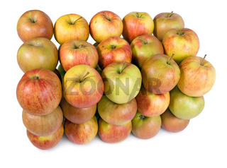 group of apples in a row