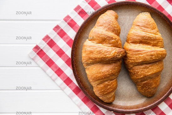 Tasty buttery croissants.