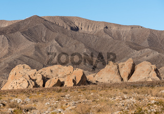 Badlands near Borrego Springs in California desert
