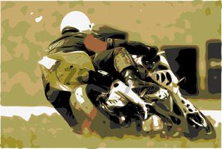 Biker von hinten/eps vektor