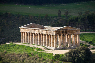 Segesta, ancient Greek temple, Sicily, Italy.