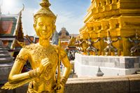 Golden Angel, Ki-nara, at Wat Phra Kaew, Grand Palace, Bangkok, Thailand