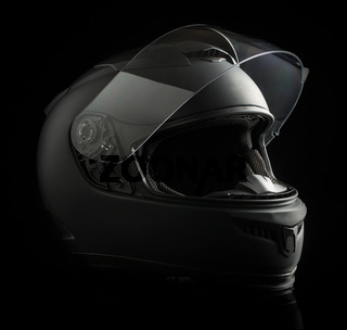 black motorcycle helmet