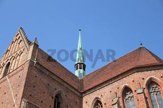 Dach und Dachreiter der Klosterruine in Chorin
