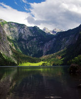 Panoramic view of Obersee lake