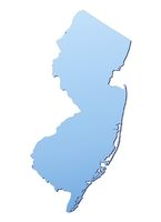 New Jersey(USA) map