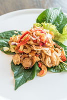 Crispy fish maw spicy salad