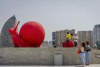 Red snail, Baku, Azerbaijan