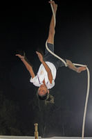 Rope malkhamb performance , the ancient form of Indian Gymnastics, India