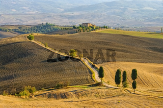 Podere Terrapille im Herbst - Podere Terrapille in autumn, Tuscany Val d Orcia