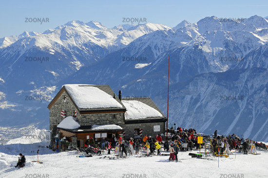 Les Violettes refuge of the Swiss Alpine Club in the Valais mountains