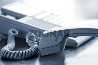 Desk telephone off hook