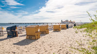 Baltic Sea beach with beach chairs