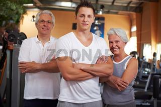 Team im Fitnesscenter