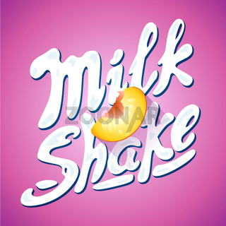 lettering milkshake sign with - label for packing
