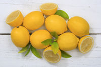 Zitrone Zitronen Früchte von oben