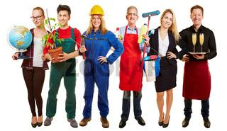 Berufe Gruppe als Arbeitsagentur Werbung