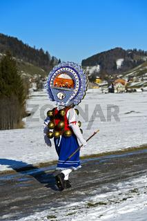 Schöner Klaus, Silvesterchlausen am Alten Silvester, Urnäsch, Kanton Appenzell Ausserrhoden, Schweiz