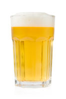 Beer glass isolated on white