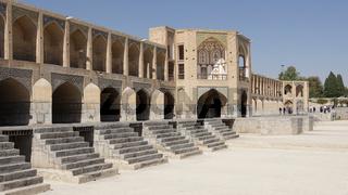 Khaju Brücke, Isfahan, Iran, Asien