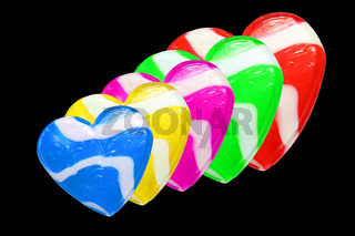 Neon Candy Hearts
