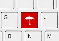 Computer keyboard with umbrella key