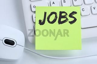 Jobs Job Arbeit Arbeitsstelle Jobsuche Business Konzept Maus