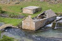 Ruin of an old mill in Croatia