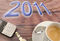 The Year 2011 whit a cup of coffe