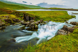 Summer day in the cold Iceland