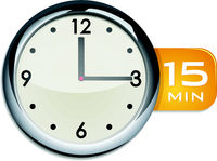 office wall clock timer 15 minutes