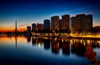 View on night Paris