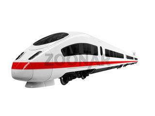 isolated white train on white background