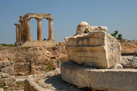 Korinth Tempel mit grabstätte