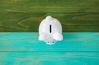 White piggy bank,top view