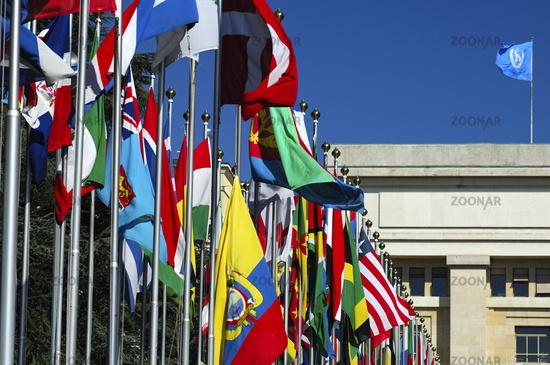 Flaggenhof der Vereinten Nationen, Genf