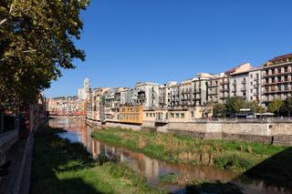 City of Girona cityscape along River Onyar