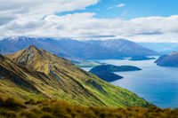 Roy's Peak in Wanaka with Wanaka Lake and Mountains in the Distance