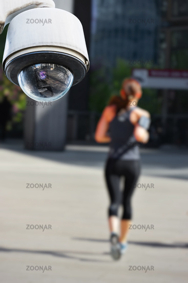 CCTV camera with jogger