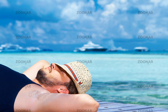 Man at Maldives