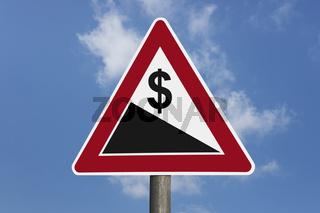 Dollar bergab   Dollar downhill