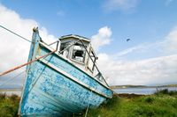 Fishing boat on the dry