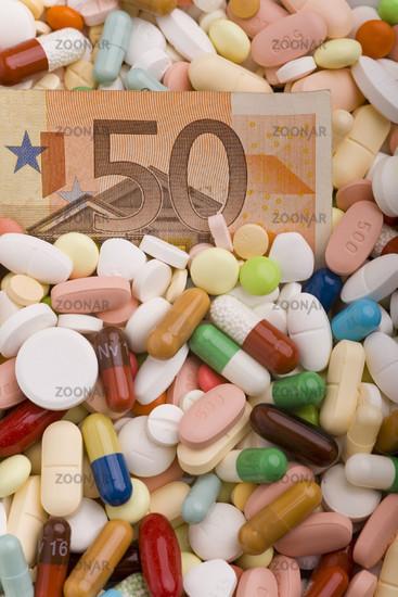 Geld in Medikamenten